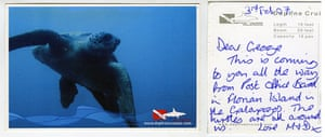 Galapagos postcards : A postcard to Millford, Surrey