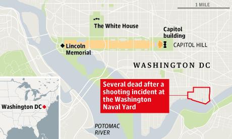 Washington shootings map