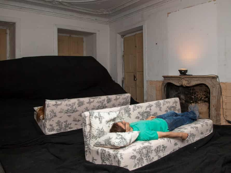 Sitting comfortably? … Slowly Ceiling by US artist Alex Schweder swallows visitors before ejecting them.