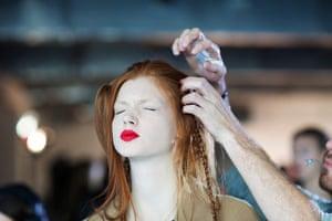 David Levene at LFW: Berardi make-up
