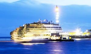 The wreck of Italy's Costa Concordia cru