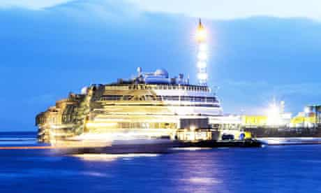The wreck of Italy's Costa Concordia cru