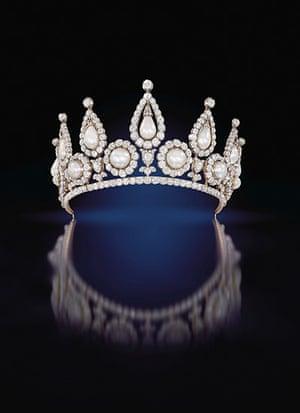 Pearls: Lady Rosebery's pearl and diamond tiara