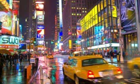 Taxi Cab, Times Square, New York City, USA
