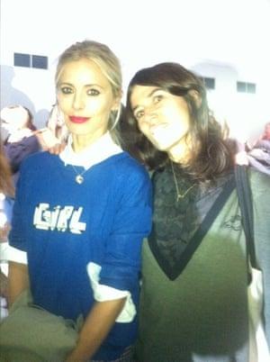 Bella f and Laura Bailey chez Simone Rocha  London Fashion Week LFWplog