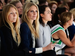 LONDON, ENGLAND - SEPTEMBER 17:  Model Poppy Delevingne attends the Simone Rocha show during London Fashion Week SS14 at TopShop Show Space on September 17, 2013 in London, England.  (Photo by Samir Hussein/Getty Images) lfwplog Fashion Celebrities Spring Summer Spring Summer Collection Fashion Collection