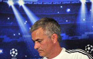 The chosen one: Chelsea's Portuguese manager Jose Mourinho holds a press conference fahead of his side's forthcoming UEFA Champions League match against FC Basel.