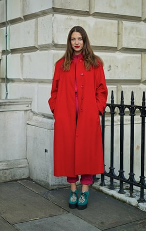 Street Style At London Fashion Week In Pictures Fashion The Guardian