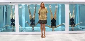 Designer Stella McCartney at the Adidas by Stella McCartney presentation at London Fashion Week  in London.