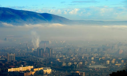 Morning view of FYROM capital Skopje
