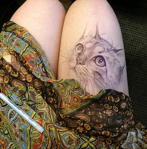Thigh Doodles: Thigh doodle of a cat