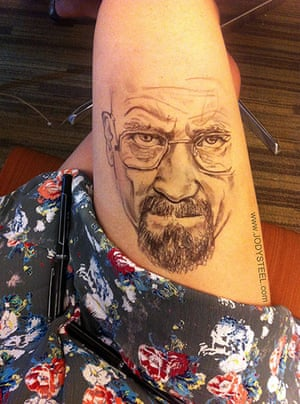Thigh Doodles: Walter White thigh doodle