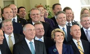 Some of Prime Minister Tony Abbott's ministry
