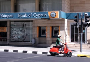 A branch of Bank of Cyprus in Nicosia, Cyprus.