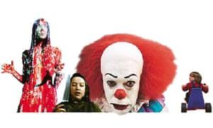 Sissy Spacek in Carrie, Kathy Bates in Misery, Tim Curry in It, Danny Lloyd in The Shining