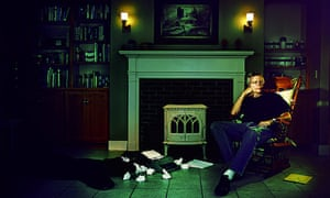 Stephen King at his home in Maine, US