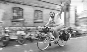 Tom Vernon in the saddle in 1980, the year after Fat Man on a Bicycle' aired on Radio 4.