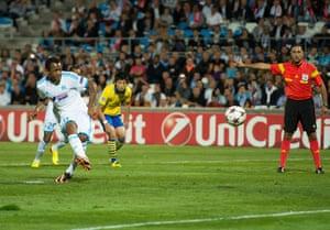 Arsenal ...: Marseille's Ghanaian forward Jordan Ayew