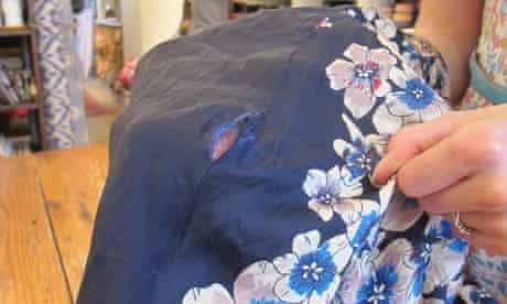 Mending in vogue: Floral dress