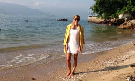 Mending in vogue: Beach dress