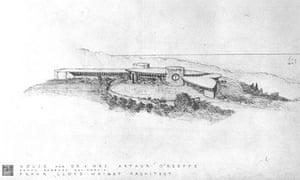 Frank Lloyd Wright Santa Barbara villa design