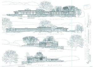 Frank Lloyd Wright house design Wraxall, Somerset
