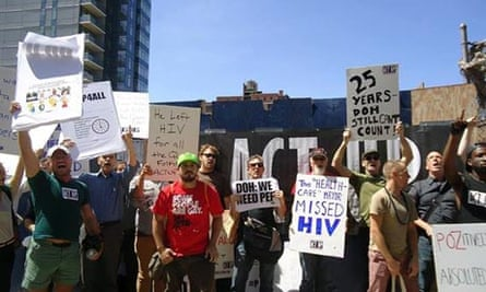 HIV Aids campaigners ActUp