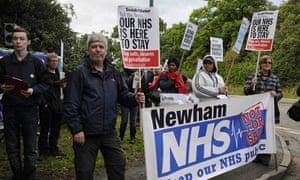 Whipps Cross Hospital demonstration