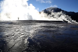 Andes crossing: Geysers at El Tatio geothermal site, Chile
