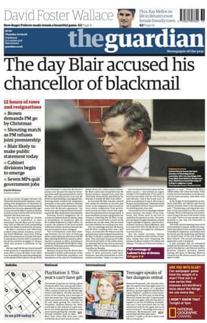 The Guardian front page, 7 September 2006