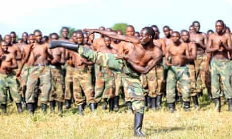 A M23 recruit  in eastern Democratic Republic of Congo
