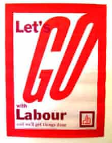 'Let's Go with Labour' campaign poster, 1963