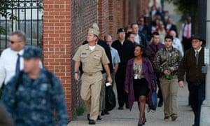 Navy yard workers return