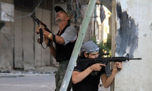 Syrian opposition fighters in Damascus