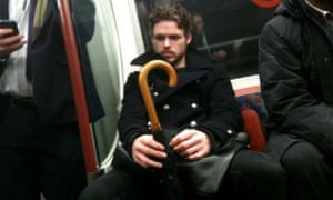 Actor Richard Madden on the Tube