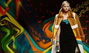 Prada's spring/summer 2014 collection presented at Milan fashion week.