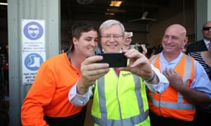 The Prime Minister Kevin Rudd tours GAGAL, an apprenticeship organisation in Gladstone this morning, Monday 2nd September 2013.