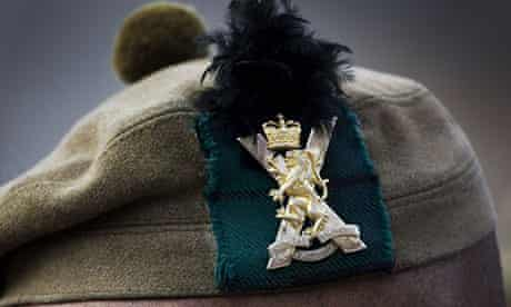 The badge of the Royal Regiment of Scotland.