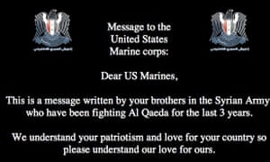 Marines website hacked by Syrian Electronic Army