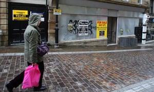 A closed shop in Bradford city centre
