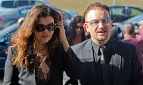 Bono at Seamus Heaney's funeral