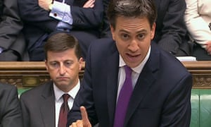 Britain's opposition Labour leader Ed Miliband in Syria debate