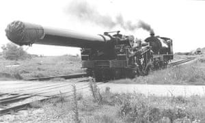 The 18in railway howitzer at Shoeburyness
