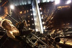 Skywalking: Vadim Makhorov skywalking above Cologne, Germany
