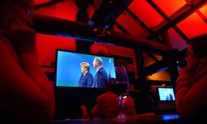 TV election debate Merkel/Steinbrueck