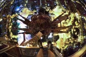 Skywalking: Skywalking above Barcelona's Sagrada Familia, Spain