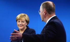 Angela Merkel and Peer Steinbrück debate