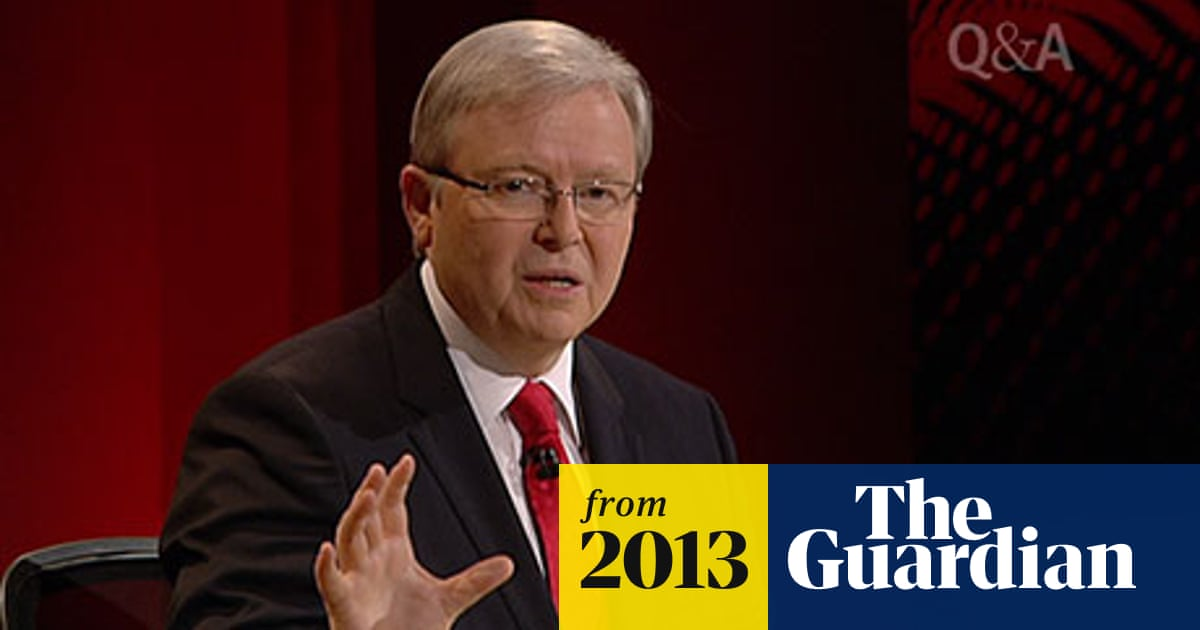 Election 2013 Kevin Rudd Passionately Defends Gay Marriage On Q A World News The Guardian