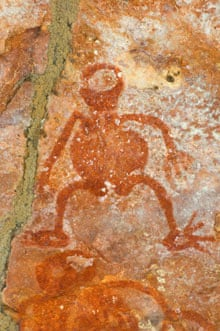 Aboriginal cave painting in rock shelter