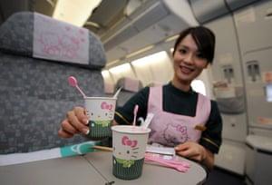 Hello Kitty plane: A Hello Kitty themed aircraft